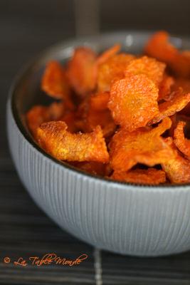 Chips de carottes à la coriandre : Comme promis, une recette tirée de mon prochain livre