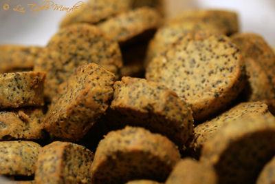Sablés au parmesan et graines de pavot
