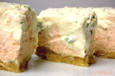 Cheese-cake saumoné aux deux persils