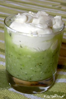 Gazpacho de concombre et sa crème au chèvre
