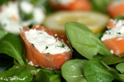 Salade marine au saumon fumé