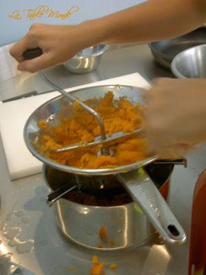 Purée de patates douces : Repas d'Halloween