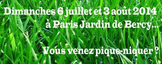 Pique-nique au Jardin de Bercy : la relève
