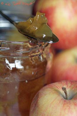 Confiture de pommes à la vanille