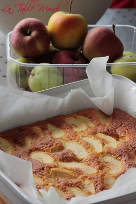 Gâteau 4x9 aux pommes