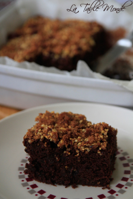 Gâteau au chocolat et aux courgettes d'Estérelle