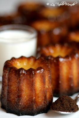 Canelés bordelais ou les petits gâteaux gascons au cœur tendre... à craquer !