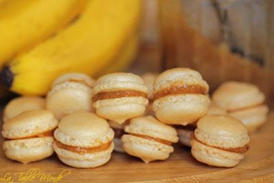 Macarons à la confiture de bananes