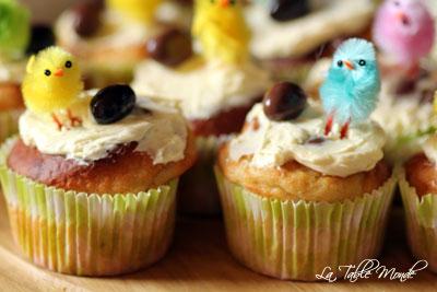 Muffins de Pâques : bananes et vanille
