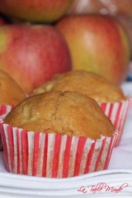 Muffins aux pommes et au caramel au beurre salé