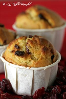 Muffins au chocolat blanc et aux canneberges