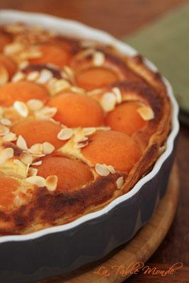 Tarte aux abricots et aux amandes