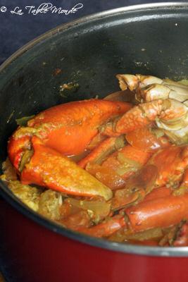 Cari de crabes comme à La Réunion