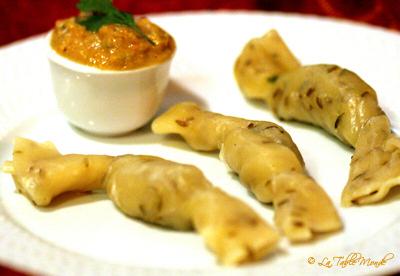 Raviolis de crevettes au curry