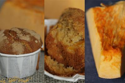 Muffins au potiron et sucre d'érable