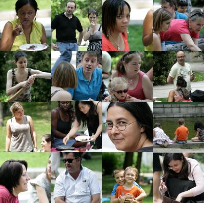 Pique-nique à Bercy du 28 juin 2009 : plusieurs dizaines de blogueurs, quant aux plats on ne les compte même pas !