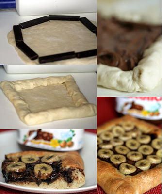 Pizza choco-crust Nutella-bananes